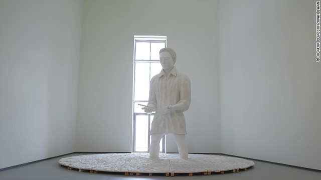 <i>Mann im Matsch </i>(<i>Man in the Mud</i>), a large installation from Thomas Schütte, is part of the museum's permanent collection.