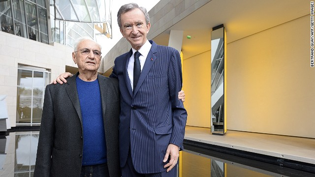 LVMH CEO Bernard Arnault, the richest man in France, first met with Gehry to plan the commission in 2001.