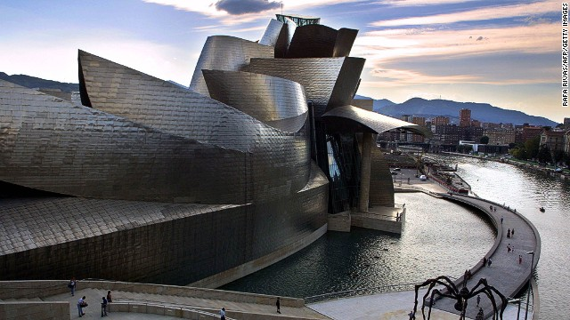 The unusual shape of Fondation Louis Vuitton recalls Gehry's other seminal works, like the Guggenheim Art Museum Bilbao, which he completed in 1997.