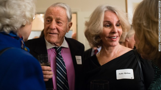 Bradlee and Quinn attend a November 2013 gathering of Washington insiders who were in the city during the presidency of John F. Kennedy.<!-- --> </br>