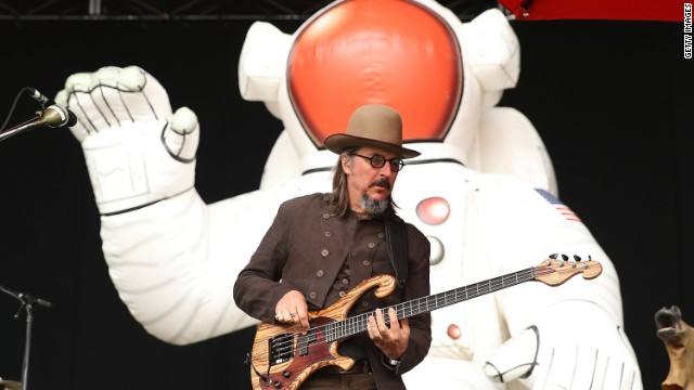 Les Claypool of Primus performs for fans in Sydney, Australia