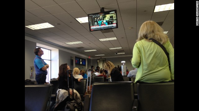 "ATLANTA: ""Passengers at ATL waiting for flight to Canada watch CNN for latest on Ottawa shootings."" - CNN's Martin Savidge, October 22. Follow Martin (<a href='http://instagram.com/martinsavidge' target='_blank'>@martinsavidge</a>) and other CNNers along on Instagram at <a href='http://instagram.com/cnn' target='_blank'>instagram.com/cnn</a>."