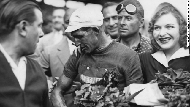 Born in 1914, Bartali won his first Tour de France in 1938. Following the World War II, he returned to competitive cycling and won his second title in 1948.