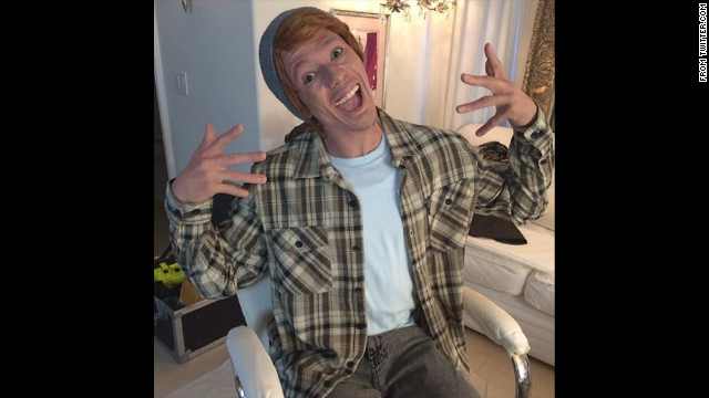 "No whiteface, either! Actor and TV host Nick Cannon dressed up as a character he called ""Connor Smallnut"" for a series of videos. Tweeters objected that the caricature was ""racist"" and ""hypocritical."""