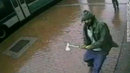 Man attacks New York cops with hatchet