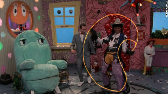 Chairy, Mr. Window, Pee-wee and Cowboy Curtis (Laurence Fishburne -- yes, <i>that</i> Laurence Fishburne).