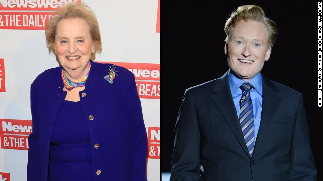 "Former Secretary of State Madeleine Albright did not let Conan O'Brien get away with<a href='https://twitter.com/ConanOBrien/status/525375393097056256' target='_blank'> tweeting</a> that he was going as ""Slutty Madeleine Albright"" for Halloween. She came right back at him with <a href='https://twitter.com/madeleine/status/525382849365815296' target='_blank'>a hilarious response.</a>"