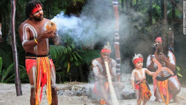 Meet the Australian Aboriginals. At the Currumbin Wild Sanctuary, <a href='http://ireport.cnn.com/docs/DOC-1047488'>Jerry Gonzales</a> captured their demonstration on how to create fire, complete with song and dance.