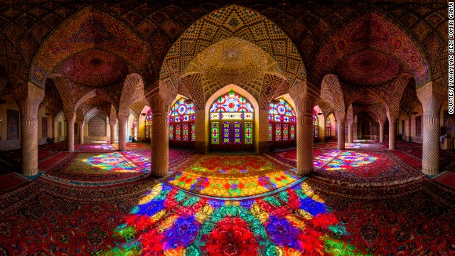 Iranian photographer Mohammad Reza Domiri Ganji has compiled a beautiful portfolio of images taken inside landmarks like the Nasir al-mulk Mosque, in Shiraz, Iran.