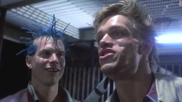 Bill Paxton, left, had a bit role as a punk who confronts the Terminator.