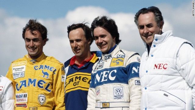 David's (left to right) brothers Geoff and Gary Brabham also enjoyed careers in motorsport. Here they are seen with father Sir Jack (right).