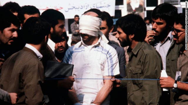 Thirty-five years ago, militant students supporting Iran's Islamic Revolution stormed the U.S. Embassy in Tehran and took scores of hostages. Ultimately, 52 Americans were held for 444 days. Click through the gallery to see how the crisis unfolded.