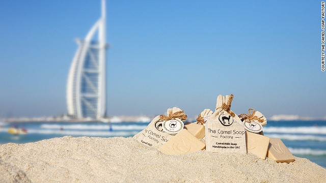 Dubai-based brand The Camel Soap Factory has also started making artisan soap from camel milk. The soaps are handcrafted and, like other camel products, tout camel milk's many healing properties.