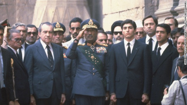 The Shah dies of cancer in Egypt on July 27, 1980. Former U.S. President Richard Nixon was among those in attendance at his funeral in Cairo.