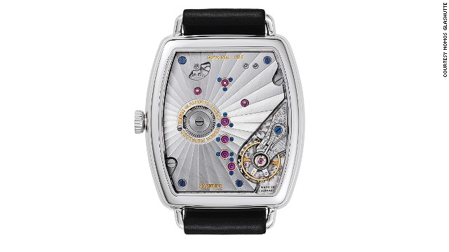 Alongside venerable heritage brands, Glashütte has seen a number of design-focused watchmaking companies develop in the last 25 years. One of them is Nomos, one of whose models is seen here, which was founded two months after the fall of the Berlin Wall.