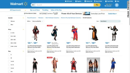 Walmart sorry for 'fat girl' costumes