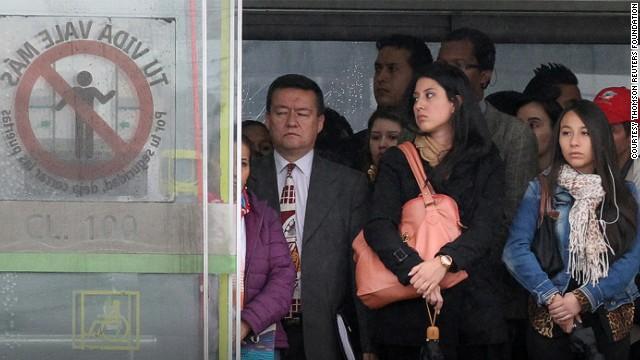 El peor transporte para mujeres: 1. Bogotá
