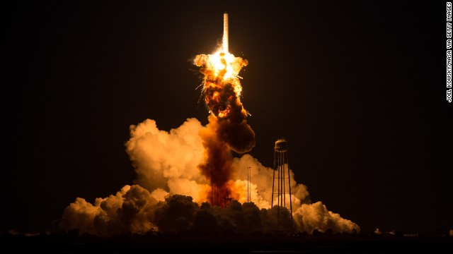 On what was to be a resupply mission to the International Space Station, an <a href='http://us.cnn.com/2014/10/28/us/nasa-rocket-explodes/index.html?hpt=hp_t2' target='_blank'>unmanned NASA-contracted rocket</a> exploded seconds after launch Tuesday, October 28, on the coast of Virginia. The launchpad was damaged, but no one was injured.