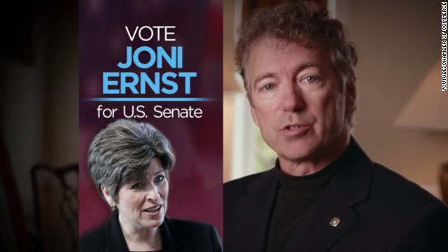 Rand Paul appears in an ad for GOP Senate hopeful Joni Ernst in Iowa