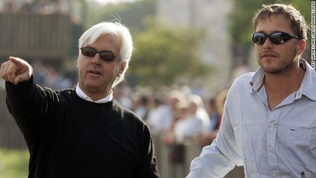 Bob Baffert, pictured here with Miller in 2006, will be the six-time Olympic medalist's partner as he embarks on the new challenge. Baffert is a three-time winning trainer at the Kentucky Derby, a race Miller has long dreamed of conquering.