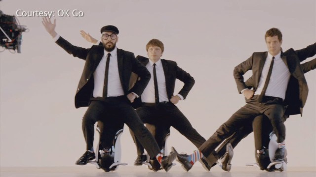 "OKGo's new video, ""I Won't Let You Down,"" is shot using drone technology."