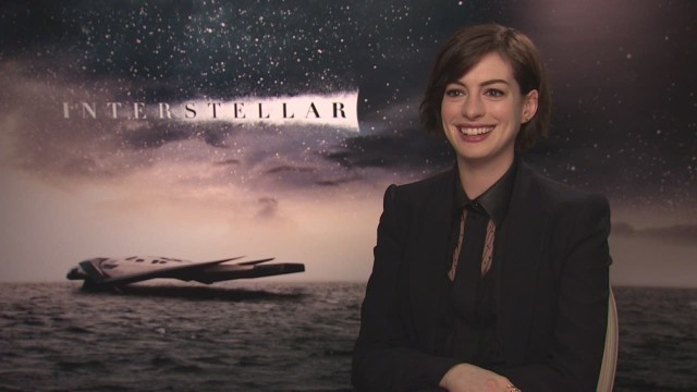 Anne Hathaway speaks to CNN about her role in the upcoming space epic.
