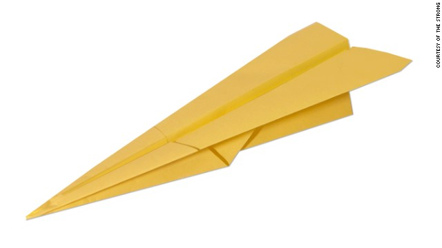 "The paper airplane's origins are unclear, The Strong says, but ""through the years, the simplicity and play value of the paper airplane has made it an inexpensive playtime fixture."""