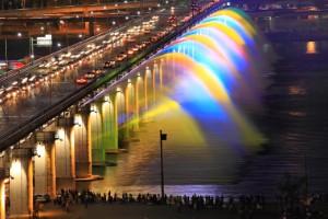 Fuente de Arco Iris de Rayos Lunares (Seúl)