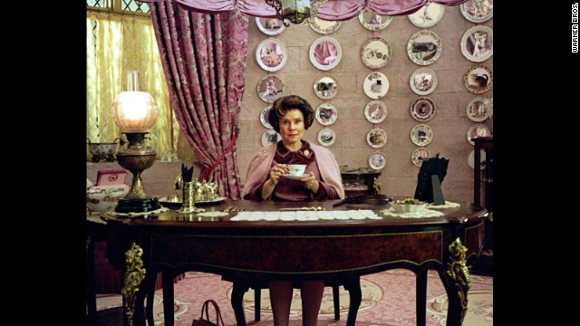"J.K. Rowling's ""Harry Potter"" had to defeat some seriously disturbed villains, one of whom was sadistic Hogwarts instructor Dolores Umbridge. The idea of what went down in her office still gives us chills. How would you rank her against some of our other favorite movie villains, including the masterful He Who Shall Not Be Named? Take a look at our top bad guys (and girls), in no particular order."