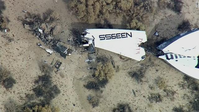 Spaceplane's debris scattered in desert