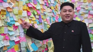 Kim Jong Un 'tours' protest site