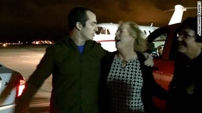 Freed U.S. Marine arrives in Florida