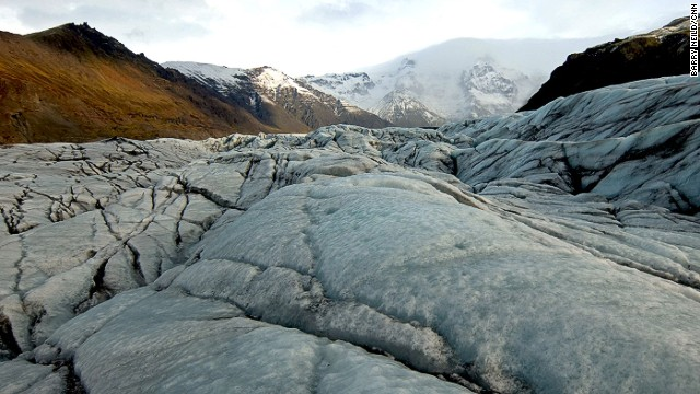 """Svinafellsjokull, a glacier in the Vatnajokull National Park, is one of the locations used in the filming of new movie """"Interstellar."""""""