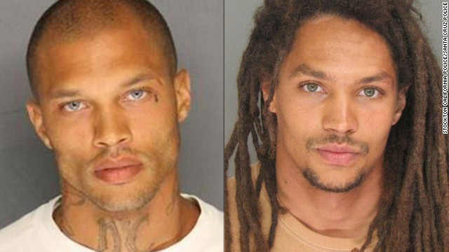 Jeremy Meeks, left, and Sean Kory, right, have received attention for their mugshots.