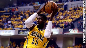 Roy Hibbert of the Indiana Pacers was found to have skill for successfully blocking or altering his opponent's shot according to Goldberry's data