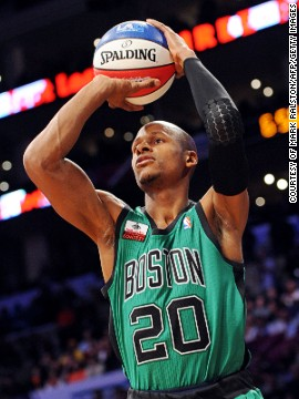 Ray Allen is widely regarded as one of NBA's best shooters and is known to have perfected the three-point shot.