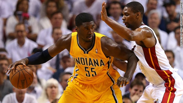 The most important area of the court to defend is around the basket, but some players are more effective than others. Using spatial data that shows where defenders are, Goldsberry can determine who holds shooters to low percentages and who fails to stop scorers. Roy Hibbert, pictured, is known to reduce his opponent's shots dramatically.