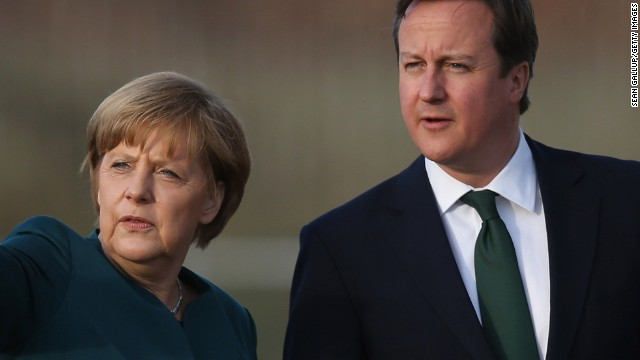 Angela Merkel and David Cameron are looking at an uncertain future over the UK's membership in the EU.