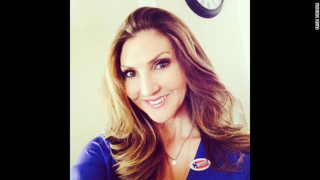 """I voted!"" actress Heather McDonald <a href='https://twitter.com/HeatherMcDonald/status/529762388359147520/photo/1' target='_blank'>tweeted</a>. ""If you did, tweet me your 'I voted' sticker selfie."""