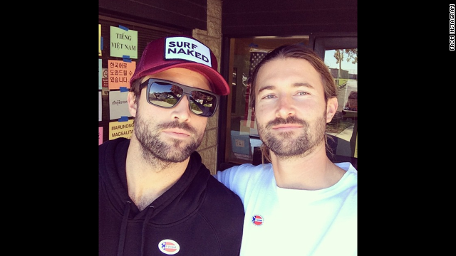 "Jenner's brothers Brody and Brandon also took an ""I voted"" selfie. This was posted to <a href='http://instagram.com/p/u_Xj4Vu6et/?modal=true' target='_blank'>Brandon's Instagram account.</a>"