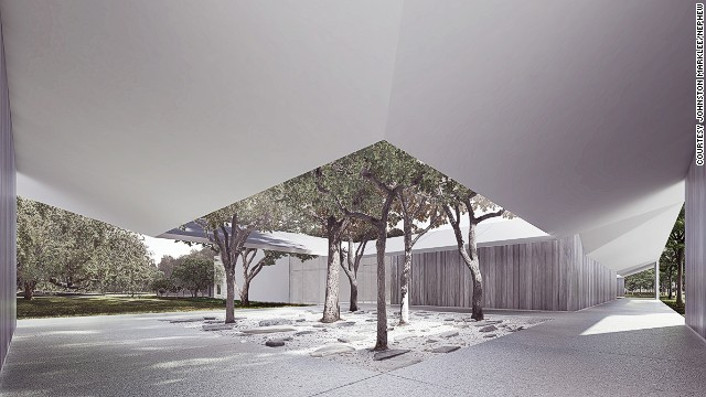 A rendering for the Menil Drawing Institute in Houston, Texas.