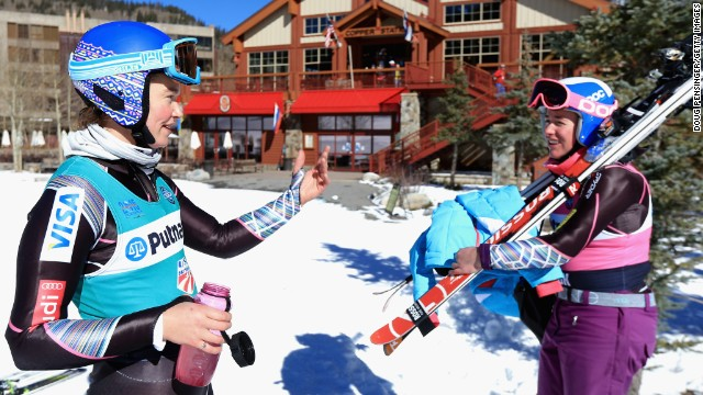 Ross and U.S. teammate Stacey Cook are the best of friends outside of competition and keen participants in the musical activities.