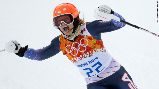 Mancuso took a bronze medal at the 2014 Olympics in Sochi in the Super Combined Slalom --taking her tally to an record four for an American woman skier.