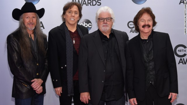Patrick Simmons, John McFee, Michael McDonald, and Tom Johnston of the Doobie Brothers.