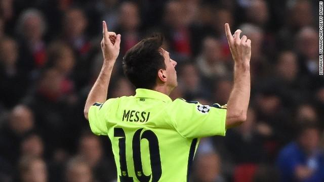 62e6f56610d Lionel Messi scored twice in Barcelona's 2-0 European Champions League win  over Ajax to