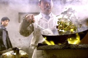 China = woks encendidos