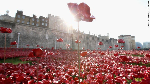 Final Tower Of London Poppy Planted On Armistice Day