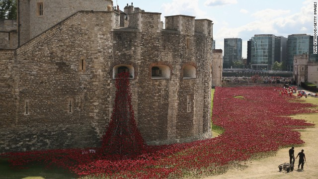 """British Prime Minister David Cameron this week praised all of those involved in the """"extraordinary project"""" at the Tower of London."""