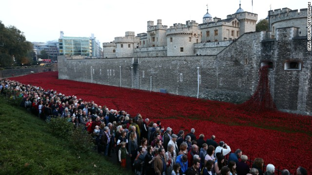 More than four million people -- 60,000 to 70,000 a day -- are expected to visit the <a href='http://poppies.hrp.org.uk/' target='_blank'>Blood Swept Lands and Seas of Red</a> installation at the Tower of London.