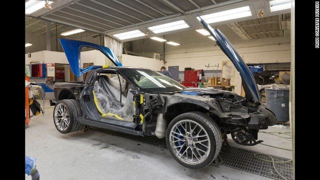 "It's not often car restorers get a chance to rescue a vehicle this special. This job was handled by a ten-member team with a less-than-sexy handle: GLS — Global Logistics Services. ""We need to come up with a better name — like the Corvette Restoration SWAT Team!"" laughed GM spokesman Monte Doran."